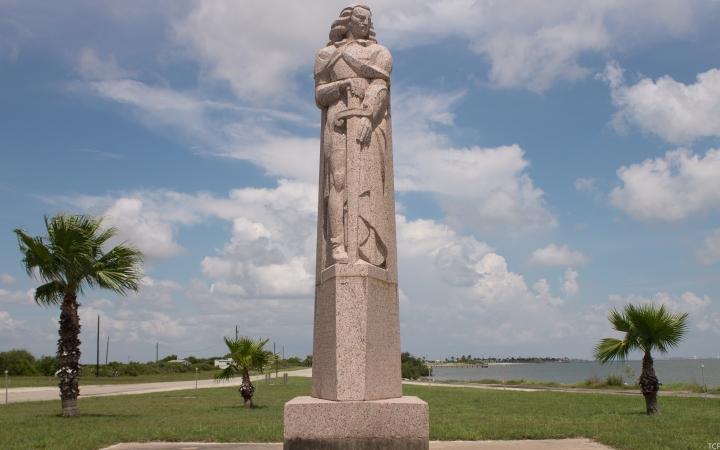 Half Million Dollar Statues of a Conquistador, a Missionary, a Pirate, and aKarankawa