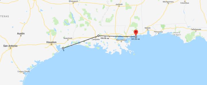 Map to Ship Island Simars de Bellisle