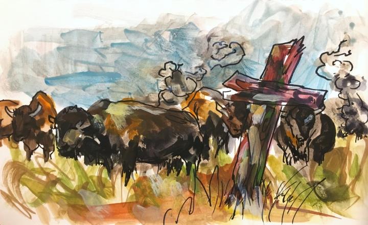 Spanish Cross, Buffalo, Nicholas de La Mathe